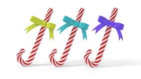 Kerstmis candys giften, het 3d teruggeven Stock Afbeelding