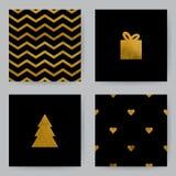 Kerstmis Cards8 Royalty-vrije Stock Foto's
