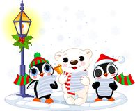 Kerstmis caroler Stock Foto's