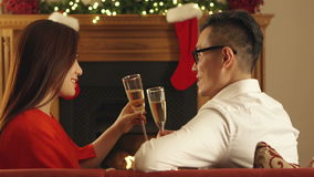 Kerstmis Champagne Toast stock video