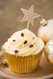 Kerstmis cupcake Royalty-vrije Stock Fotografie