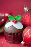 Kerstmis cupcake Royalty-vrije Stock Foto's