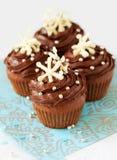 Kerstmis cupcake Royalty-vrije Stock Afbeeldingen