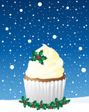 Kerstmis cupcake Stock Afbeeldingen