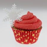 Kerstmis cupcake Stock Afbeelding