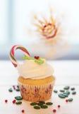 Kerstmis cupcake Stock Fotografie