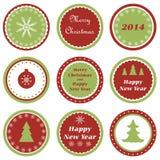 Kerstmis cupcake toppers Royalty-vrije Stock Foto