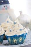 Kerstmis cupcakes Stock Foto