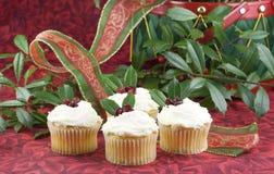 Kerstmis Cupcakes Stock Fotografie