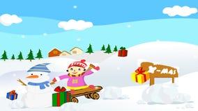 Kerstmis 3d Animatie royalty-vrije illustratie