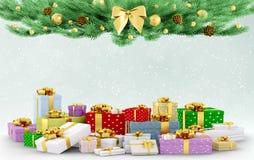Kerstmis 3d teruggeven het als achtergrond vector illustratie