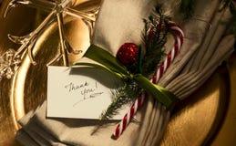 Kerstmis dankt u Royalty-vrije Stock Foto
