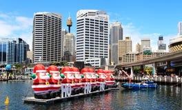 Kerstmis @ Darling Harbour Sydney Australia stock fotografie