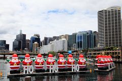 Kerstmis @ Darling Harbour Sydney Australia royalty-vrije stock foto