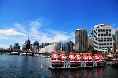 Kerstmis @ Darling Harbour Sydney Australia royalty-vrije stock afbeeldingen