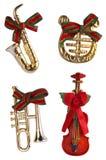 Kerstmis, de decoratie van het muziekinstrument Stock Fotografie