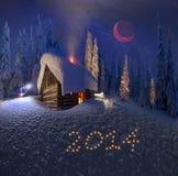 Kerstmis in de Karpaten Stock Foto's