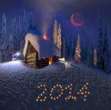 Kerstmis in de Karpaten Stock Fotografie