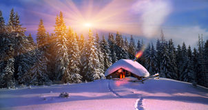 Kerstmis in de Karpaten Royalty-vrije Stock Afbeelding