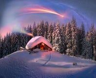 Kerstmis in de Karpaten Stock Foto