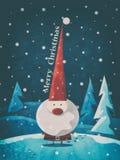 Kerstmis de Kerstman royalty-vrije illustratie