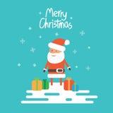 Kerstmis de Kerstman Vector Illustratie