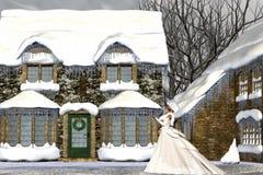 Kerstmis in de Middeleeuwen Royalty-vrije Stock Afbeelding