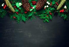 Kerstmis of de nieuwe achtergrond van de jaarvakantie Royalty-vrije Stock Fotografie