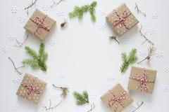 Kerstmis of de nieuwe achtergrond van de jaarvakantie Stock Fotografie