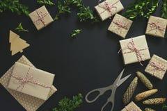 Kerstmis of de nieuwe achtergrond van de jaarvakantie Royalty-vrije Stock Foto's