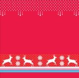 Kerstmis, de rode Achtergrond van de de wintervakantie, Vector Stock Foto
