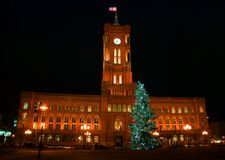 Kerstmis in de stad Royalty-vrije Stock Fotografie