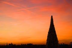 Kerstmis in de stad Royalty-vrije Stock Afbeeldingen
