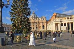 Kerstmis in de Stad van Vatikaan Royalty-vrije Stock Afbeeldingen