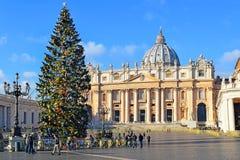 Kerstmis in de Stad van Vatikaan Royalty-vrije Stock Foto