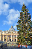 Kerstmis in de Stad van Vatikaan Stock Foto
