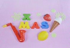 Kerstmis 2015 decoratie met kleurrijk speelgoed Royalty-vrije Stock Fotografie