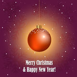 Kerstmis decoratieve bal Stock Foto