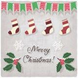 Kerstmis decoratieve elementen vector illustratie
