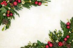 Kerstmis Decoratieve Grens Als achtergrond royalty-vrije stock afbeelding