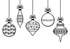 Kerstmis decoratieve snuisterijen Stock Afbeeldingen