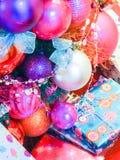 Kerstmis decoratiy seizoen als achtergrond Stock Afbeeldingen