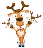 Kerstmis Deers Royalty-vrije Stock Afbeeldingen