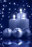 Kerstmis die blauwe koude gelijk maakt Stock Foto's