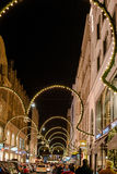 Kerstmis die in Hamburg winkelen Stock Fotografie
