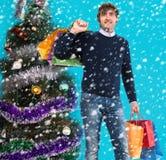 Kerstmis die, idee voor uw ontwerp winkelt Stock Afbeeldingen