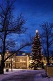 Kerstmis die stad voelt Royalty-vrije Stock Afbeelding