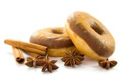 Kerstmis donuts royalty-vrije stock foto