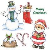 Kerstmis draagt Elementen Royalty-vrije Stock Foto