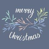 Kerstmis eenvoudige prentbriefkaar Royalty-vrije Stock Fotografie
